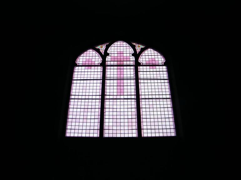 Stained glass windows, Hillsdale Presbyterian Church