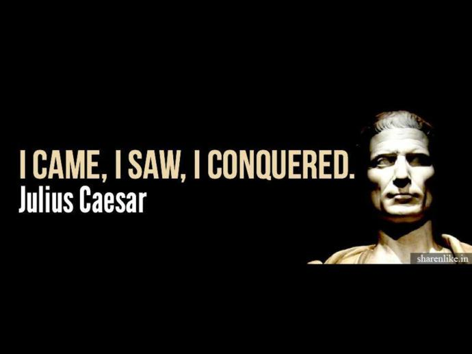 Julius Caesar was a mighty and powerful conqueror. But like all human beings, his time on earth was very short. Image source