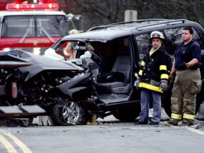 George Jones crash scene. Image Source